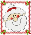 Santa Happy face embroidery design