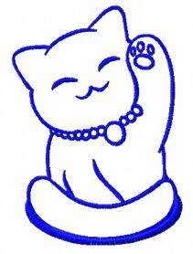 Smiling cat 3 machine embroidery design