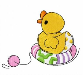 Toy rubber duck machine embroidery design