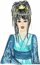 Geisha in Blue
