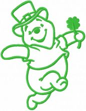 St patrick winnie pooh one colored