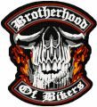 Brotherhood of Bikers patch embroidery design