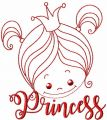 Cute little princess free embroidery design