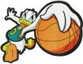 Donald Duck basketball fan embroidery design
