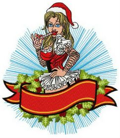 Unusual Christmas machine embroidery design