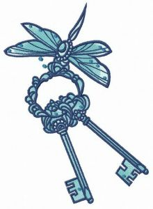 Dragonfly with keys