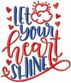 Let your heart shine embroidery design