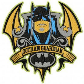 Batman Gotham guardian machine embroidery design