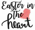 Easter in the heart free embroidery design