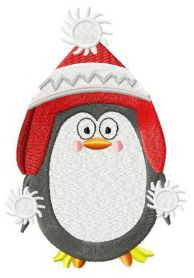 Сhristmas penguin 3 machine embroidery design