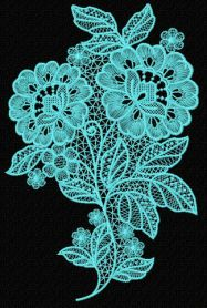 Lace flower machine embroidery design
