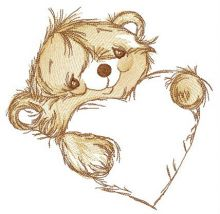Adorable bear with heart