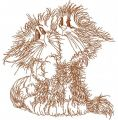 Fluffy pair 3 embroidery design