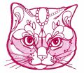 Noble cat 2 embroidery design