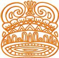 Royal Helmet  embroidery design