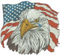 American Eagle 7 embroidery design