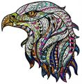 Mosaic eagle embroidery design
