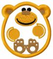 Monkey applique free embroidery design