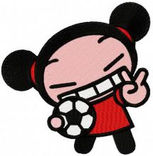 Pucca football player