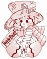 Peppermint gingedbread man 2 embroidery design