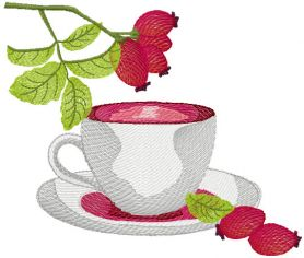 A cup of tea free embroidery design