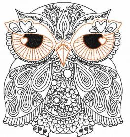 owl free embroidery design 5