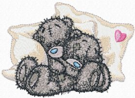 We sleep together machine embroidery design