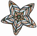Mosaic star embroidery design