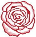 Red rose embroidery design 19