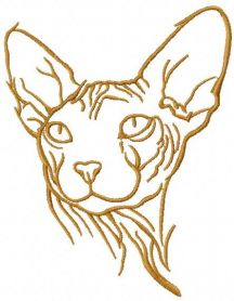Sphynx silhouette free embroidery design