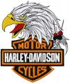 Harley Davidson eagle logo 2 embroidery design