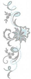 vintage flowers decoration free embroidery design