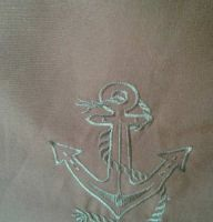 Embroidered anchor free design