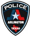 Texas Arlington police department badge embroidery design