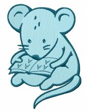 Tiny mouse reading 2