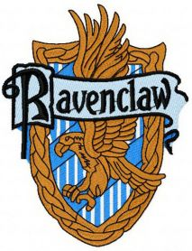 Ravenclaw machine embroidery design