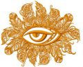 Tribal eye 2 embroidery design