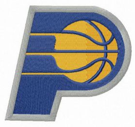 Indiana Pacers alternative logo machine embroidery design