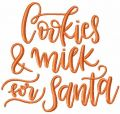 Cookies and milk for Santa free embroidery design