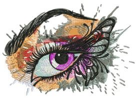 Winged eye machine embroidery design