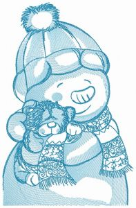 Teddy bear for snowman 2
