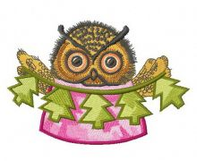 Owl with paper garland 2