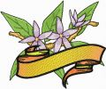 Orange Blossom free machine embroidery design