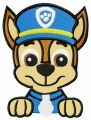 Police puppy Chase embroidery design