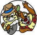 Chip & Dale 3a embroidery design