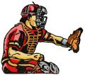 Baseball player 7 embroidery design