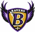 Baltimore Ravens alternative logo embroidery design