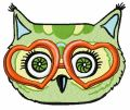 Glamorous owl party 5 embroidery design