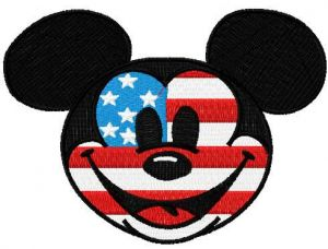 Patriotic Mickey Mouse 2
