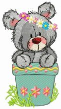 Teddy bear in flower pot 2